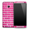 Pink Brick Skin for the HTC One Phone