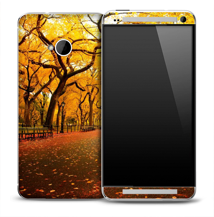 Fall Country Path Skin for the HTC One Phone
