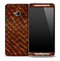 Brown Reptile Skin for the HTC One Phone