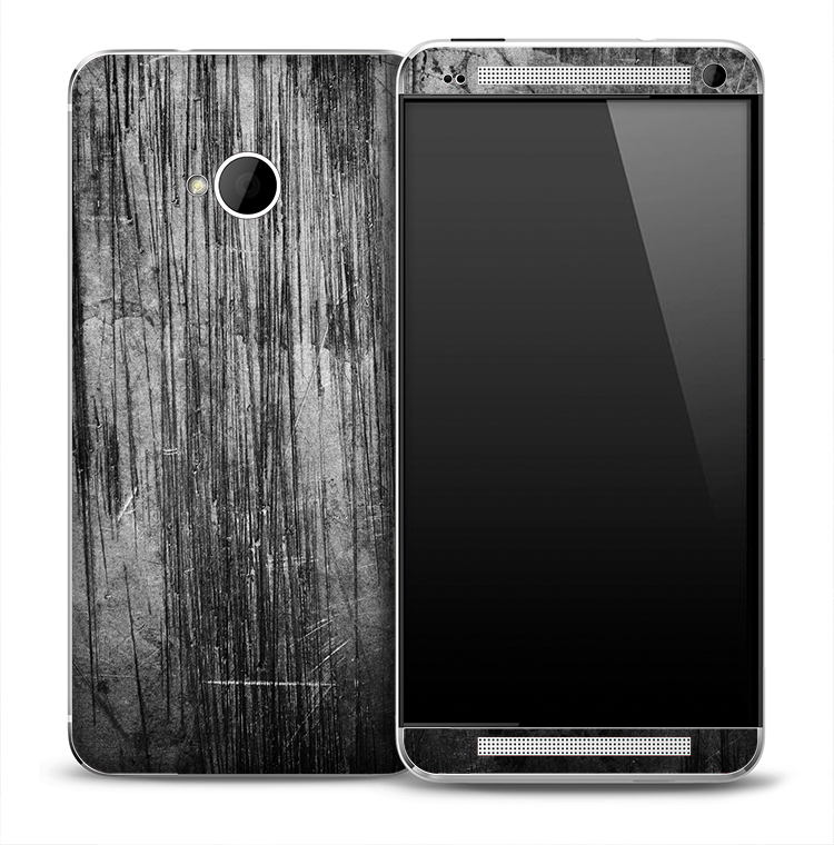 Dark Aged Wood Skin for the HTC One Phone