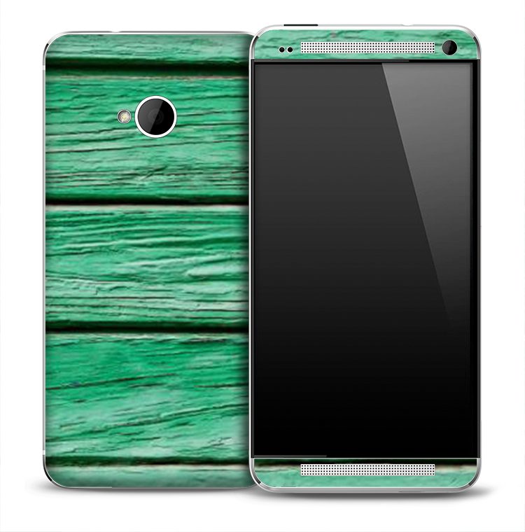 Antique Green Boards Skin for the HTC One Phone