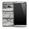 Cracked White Boards Skin for the HTC One Phone