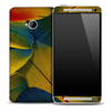 Vibrant Fancy Feathers Skin for the HTC One Phone