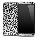 White Snow Leopard Skin for the HTC One Phone