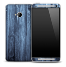 Blue Stained Wood Skin for the HTC One Phone