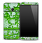 Neon Cracked Green Paint Skin for the HTC One Phone