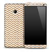 White and Woodgrain Pattern Skin for the HTC One Phone