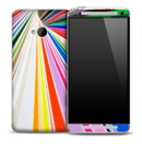 Colorful Focal Point Pattern Skin for the HTC One Phone