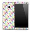 Color Peace and Polka Dots Pattern Skin for the HTC One Phone
