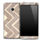 Large Vintage V4 Chevron Pattern Skin for the HTC One Phone