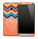 Vintage Dreamcatcher Chevron Pattern Skin for the HTC One Phone