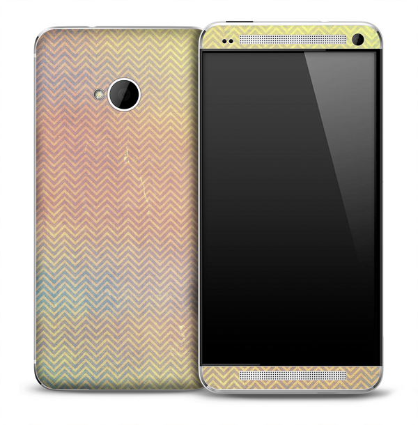 Tiny Vintage Chevron Pattern Skin for the HTC One Phone