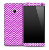 Purple And White Chevron Pattern Skin for the HTC One Phone