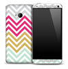 Color V4 Chevron Pattern Skin for the HTC One Phone