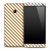 Tan and White Striped Skin for the HTC One Phone