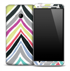 Abstract Chevron Color V2 Pattern Skin for the HTC One Phone