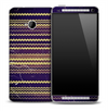 Purple Vintage Chevron Pattern Skin for the HTC One Phone