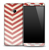 Vintage Subtle Red Chevron Pattern Skin for the HTC One Phone