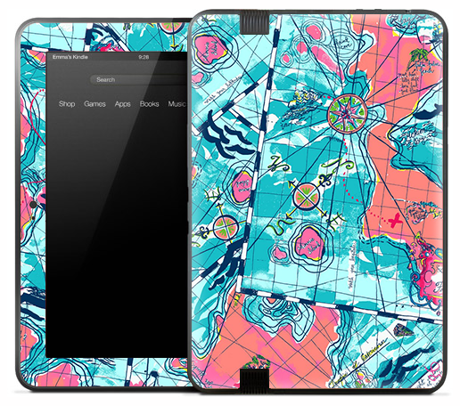 Abstract Map Skin for the Amazon Kindle