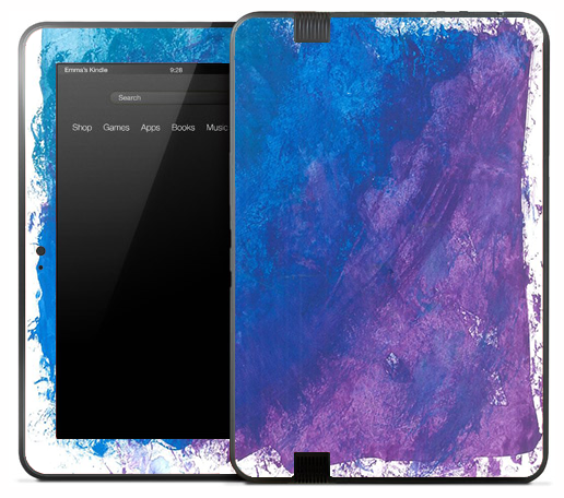 Smeared Blue Oil Paint Skin for the Amazon Kindle