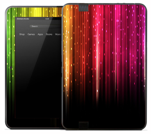 Neon Vertical Colorful Plats Skin for the Amazon Kindle