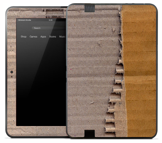 Torn Cardboard Skin for the Amazon Kindle