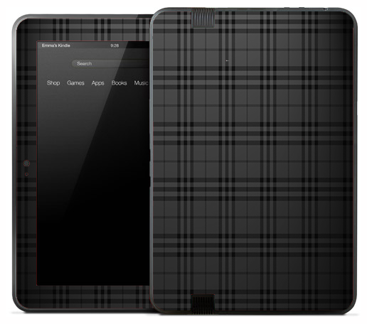 Dark Plaid Skin for the Amazon Kindle