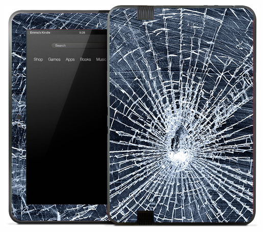 Cracked Glass Skin for the Amazon Kindle