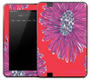 Artistic Purple Flower Skin for the Amazon Kindle