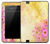 Yellow & Pink Flowers Skin for the Amazon Kindle