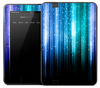 Neon Blue Vertical Plats Skin for the Amazon Kindle