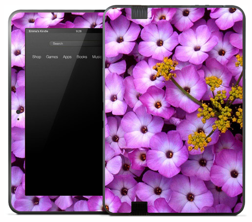 Purple Flower Bouquet Skin for the Amazon Kindle