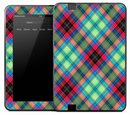 Green & Pink Plaid Skin for the Amazon Kindle