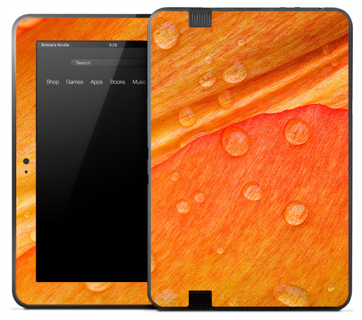 Orange Dew Pedal Skin for the Amazon Kindle