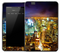 Vibrant Night Skyline Skin for the Amazon Kindle