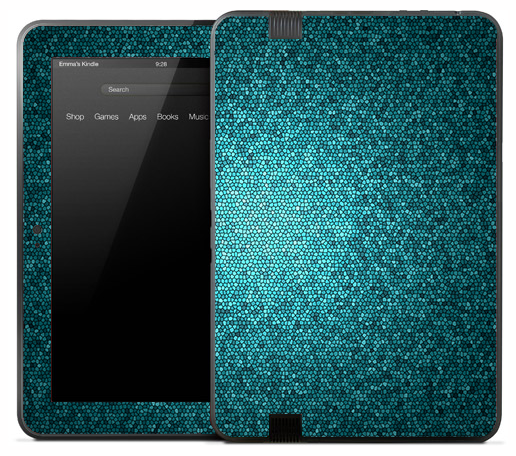 Light Blue Glitter Skin for the Amazon Kindle