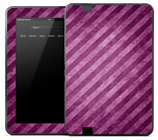 Pink & Purple Stripes Skin for the Amazon Kindle