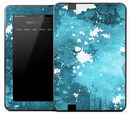 Splattered Blue & White Skin for the Amazon Kindle