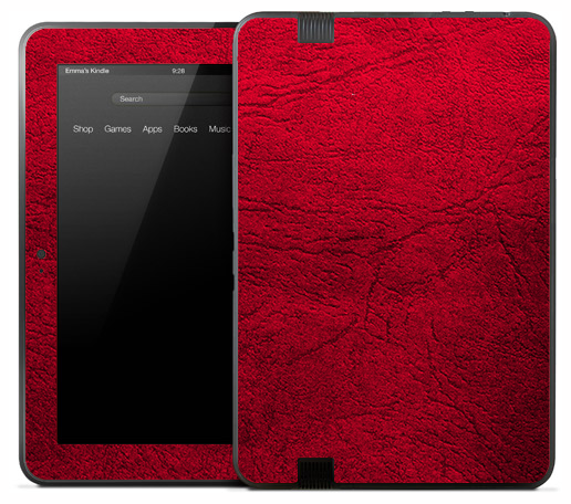 Aged Neon Red Skin for the Amazon Kindle