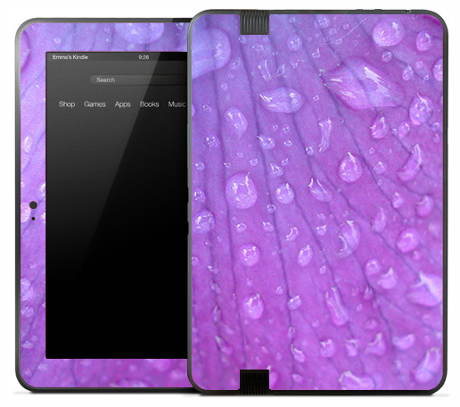 Purple Pedal Droplet Skin for the Amazon Kindle