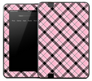 Pink & Black Plaid Skin for the Amazon Kindle