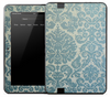 Light Blue Floral Skin for the Amazon Kindle