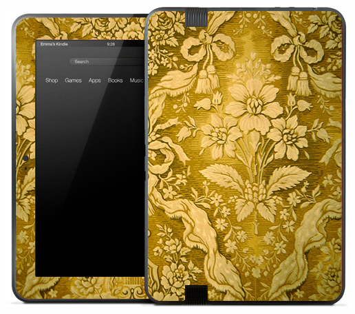 Antique Yellow Decor Skin for the Amazon Kindle