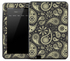 Yellow Paisley Skin for the Amazon Kindle