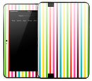 Bright Color Vertical Stripes Skin for the Amazon Kindle