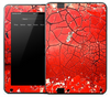 Cracked Bright Red Skin for the Amazon Kindle