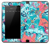 Blue & Pink Travelers Map Skin for the Amazon Kindle