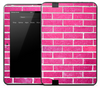 Bright Pink Brick Skin for the Amazon Kindle