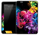 Neon Colorful Flowers Skin for the Amazon Kindle