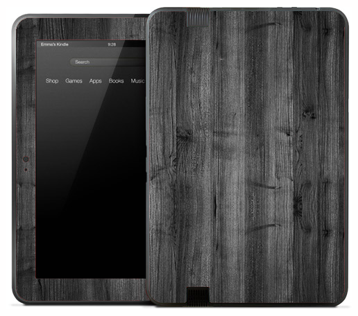 Vintage Aged Dark Wood Skin for the Amazon Kindle